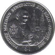 1 Dollar (Visite du Pape Benoît XVIà Cologne) – revers