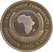 1 Leone (Sommet de l'Organisation de l'Unité Africaine) – revers
