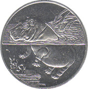 1 dollar (Hippopotame) – revers