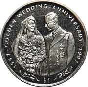 1 Dollar ( Golden Wedding Anniversary) – revers