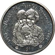 1 Dollar (Diana-The People's Princess) – revers