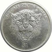 1 Dollar guepard – revers