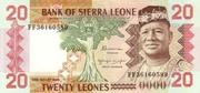 20 Leones – avers