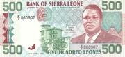500 Leones – avers