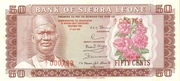 50 cents commemorative banknote – avers