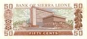 50 cents commemorative banknote – revers