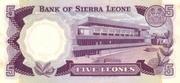 5 Leones – revers