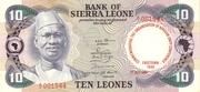 10 Leones commemorative banknote – avers