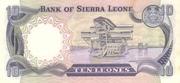 10 Leones commemorative banknote – revers