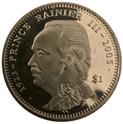1 dollar (Prince Rainier III) – revers