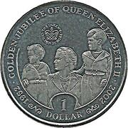 1 dollar Jubilé d'Elizabeth II (avec Charles et Anne) – revers