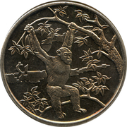 1 dollar (Chimpanzé) – revers