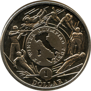! Dollar (Winter Olympic Games in Turin) – revers