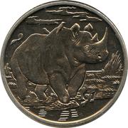 1 dollar (Rhinocéros) – revers