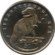 1 Dollar (Tyrannosaure Rex) – revers