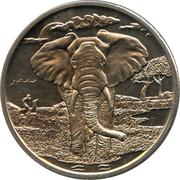 1 dollar (Éléphant) – revers