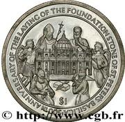 1 Dollar (500th Saint Peter Basilica) – revers