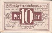 10 Heller (Sigmundherberg) – avers