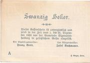 20 Heller (Sigmundherberg) – revers