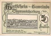 50 Heller (Sigmundherberg) -  avers