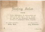 50 Heller (Sigmundherberg) -  revers