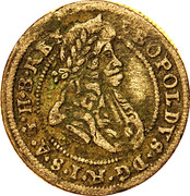 1 kreuzer Leopold I (Oppeln) – avers