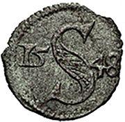 1 heller Ferdinand I (Breslau) – revers