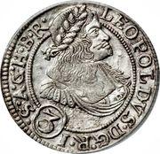 3 kreuzer Leopold I (Breslau) – avers