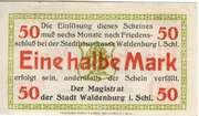 50 Pfennig (Stadt Waldenburg i. Schl.) – avers
