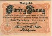 50 Pfennig (Gross-Wartenberg) – avers
