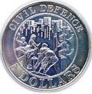 5 Dollars (Civil Defence) -  revers