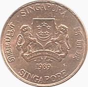 1 cent (blason haut) – avers