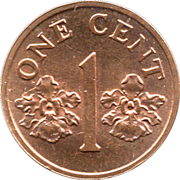 1 cent (blason haut) – revers