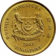 5 cents (blason bas) – avers