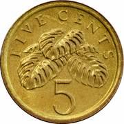 5 cents (blason bas) – revers