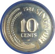 10 Cents (Silver Proof Issue) – avers