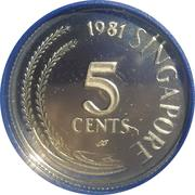 5 Cents (Silver Proof Issue) – avers