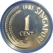 1 Cent (Silver Proof Issue) – avers