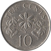 10 cents (blason haut) – revers