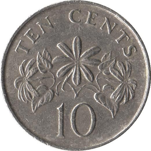 10 Cents Blason Haut Singapour Numista
