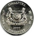 10 Dollars (Year of the Dragon) 2000 Commemorative: Year of the Dragon Copper-nickel – 28 g – ø 40.7 mm -  avers