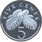 5 Cents (Silver Issue) – revers