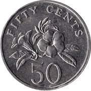 50 cents (blason bas) -  revers