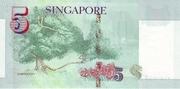 5 Dollars (MAS; papier) – revers