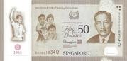 50 dollars (50e anniversaire de Singapour) – avers