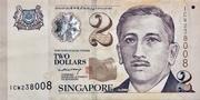 2 Dollars (MAS; papier) – avers