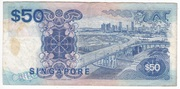 50 dollars (bleu) – revers