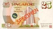 25 Dollars (Anniversary of Monetary Authority of Singapore) – avers