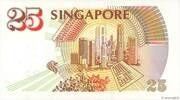 25 Dollars (Anniversary of Monetary Authority of Singapore) – revers