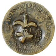 Cayenne Stuiver (SM + fleur-de-lis countermark) – avers